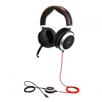 Jabra Evolve 80 MS UC USB-C Stereo Headset