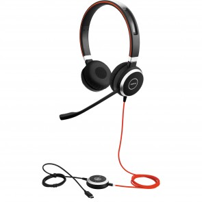 Jabra Evolve 40 3.5mm/USB-C Duo Headset
