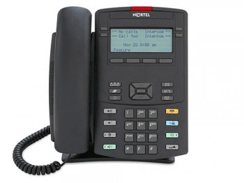 Teléfono Nortel 1220 IP - Reacondicionado - Gris Oscuro
