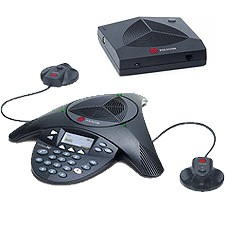 Teléfono de conferencia inalámbrico Polycom SoundStation 2W EX con micrófonos