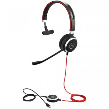 Jabra Evolve 40 3.5mm/USB-C Mono Headset