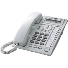 Panasonic KXT7730 E Display Telefone - Weiß