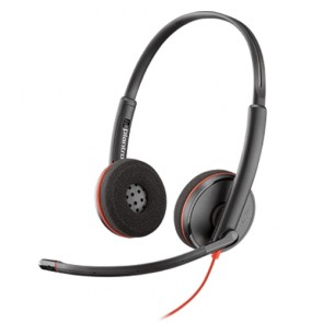 Plantronics Blackwire C3220 USB Doppelohriges Headset mit USB