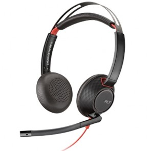 Plantronics Blackwire C5220 Doppelohriges Headset mit USB und 3.5mm Jack