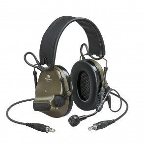 3M™ Peltor™ ComTac VI NIB Headset Green - MI Input, Nato Wired, Dual Down Lead