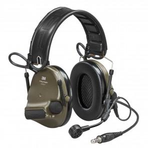 3M™ Peltor™ ComTac VI NIB Headset Green - MI input, Nato Wired