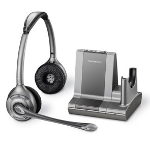 Plantronics Savi Office Schnurlos Binaural Headset - Erneuert - WO350/A