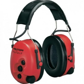 Cuffie Protettori Peltor ProTac II Active Listening - Rosso