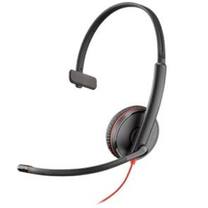 Plantronics Blackwire C3225 USB / 3.5mm Connessione USB e jack da 3,5 mm, 2 orecchio