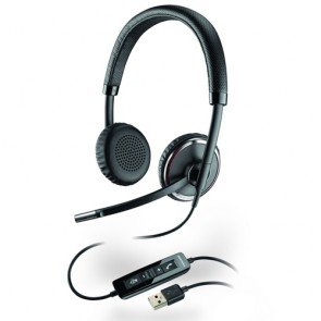 Plantronics Blackwire C520 Cuffia per PC USB, 2 orecchio