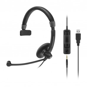 Sennheiser SC45 USB Cuffia telefonica con connessione USB e Jack 3,5