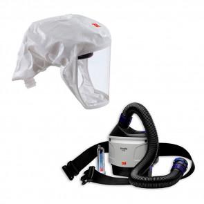 3M Versaflo TR-315 + kit di avviamento ad aria compressa e pacchetto cappuccio respiratore S-133